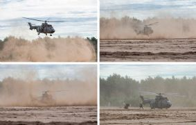 Stofhappen in eigen land: brown-out training voor helikopterbemanningen
